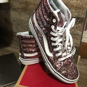 Vans glitter crush Sk8-hi slim zip